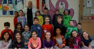 Frenchtown second graders with Alan Shawn Feinstein during his visit to the school.