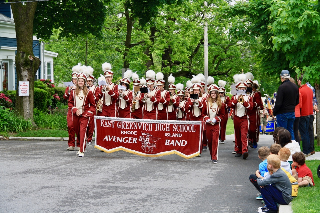 EGHS Avenger Band at the start of the parade.