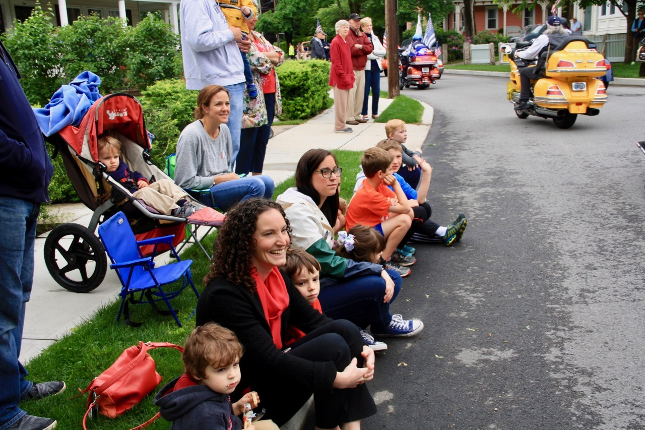 Prime parade viewing on Spring Street, at the start of the parade.