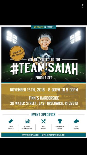 Fundraiser for Little Isaiah Hazard Set for Nov. 15